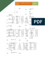 Algebric Formulae