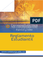 Reglamento Estudiantil Usta