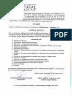 Convocatoria CD. Madero 30 de Abril