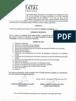 Convocatoria Hidalgo 30 de Abril