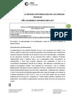 Programa 2017 Epistemología de Las Ciencias Sociales (1)