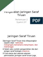 Pengenalan Jaringan Saraf Tiruan 2