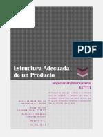 Estructura Adecuada Del Producto