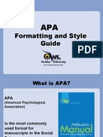 APA Formating Styles