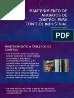 Exposición mantenimiento tableros eléctricos
