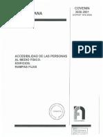 3656-2001 Accesibilidad de Las Personas Al Medio Físico. Edificios. Rampas Fijas