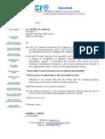 Invitation Letter Bnhs