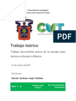 Energía solar térmica en México