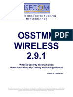 OSSTMM WIRELESS 2.9.1
