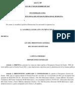 Ley 769 Presupuesto Del Estado -PGE-2016