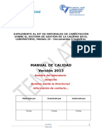 Quality Manual Template SP