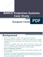 Barco Projection Systems Case Study -Gurgaon