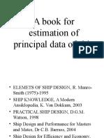 A Book for Estimation of Principal Data of Ship