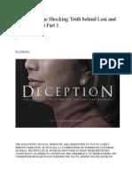 Deception- The Shocking Truth Behind Leni and Jesse Robredo Part 1