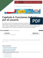 Capítulo 4. Funciones Definidas Por El Usuario