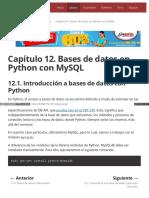 Capítulo 12. Bases de Datos en Python Con MySQL