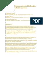 Ejercicios Prácticos Sobre La Evaluación de Proyectos de Inversiones