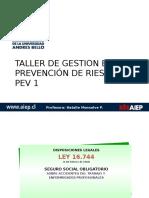 1.- Taller de Gestion en Prevencion de r