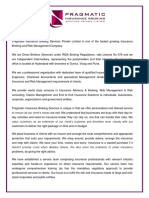 Pragmatic Insurance Broking Services Pvt Ltd - Company Profile
