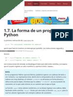 1.7. La Forma de Un Programa Python