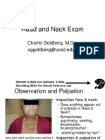 Px Head neck exam