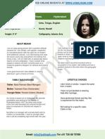 marriage biodata pdf format doc free download