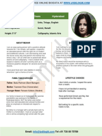 Marriage Biodata Format for a Muslim Girl