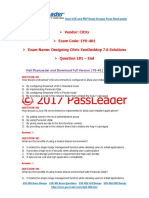 2017 PassLeader 1Y0-401 Dumps with VCE and PDF (Question 181 - End)