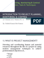 Session 01 - Introduction to Project Planning, Monitoring & Control