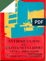 Abbagnano Nicola - Introduccion Al Existencialismo.pdf