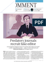Predatory Journals Recruit Fake Editor