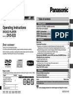 Panasonic DVD-S33 User Manual