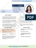 biodata format for marriage for girl in microsoft word download