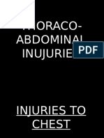 Thoraco Abdominal Injuries