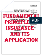 Fundamental Principle of Insurance and Its Application