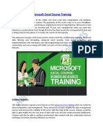 Enhance your Skills on Microsoft Excel Course