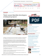 'State Cannot Blacklist Developers of Delayed Projects' - Community