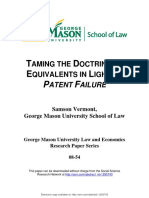 Taming the Doctrine of Equivalents in Light of Patent Failure
