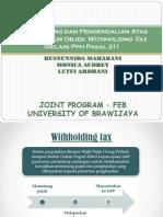 Tax Planning Dan Pengendalian Atas Unsur 2