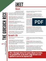 Neil Gorsuch Fact Sheet