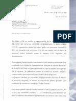 Denuncia a la INADI por políticas antisindicales en LAN Argentina