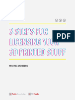 3 Steps for Licensing Your 3D Printed Stuff