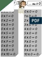 Affiches Tables de Multiplication Version 2015 ALIASLILI