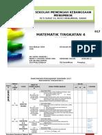 Rancangan Pengajaran Tahunan Matematik 2017 (Ting 4)