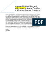 Performance Aware Routing Protocol for Wireless Sensor Network