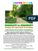 Highgate to Highbury Walk 23-4-17 Final