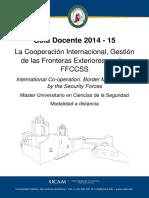 2-Guia Docente La Cooperacion Internacional Gestion de Las Fronteras Exteriores Por Las Ffccs 2014 15