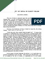 The Concept of Jizya in Early Islam