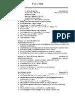 white tracie resume 2017