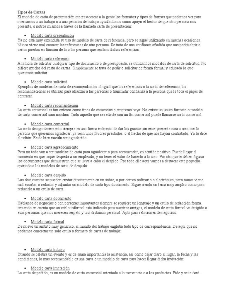 Dorable Formato De Carta De Presentación De Muestra Colección de ...